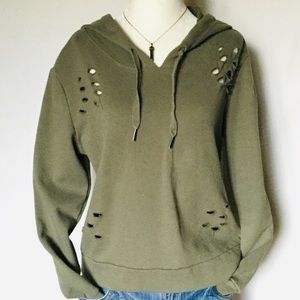 Cable & Gauge Pullover Green Sweatshirt, EUC, szM